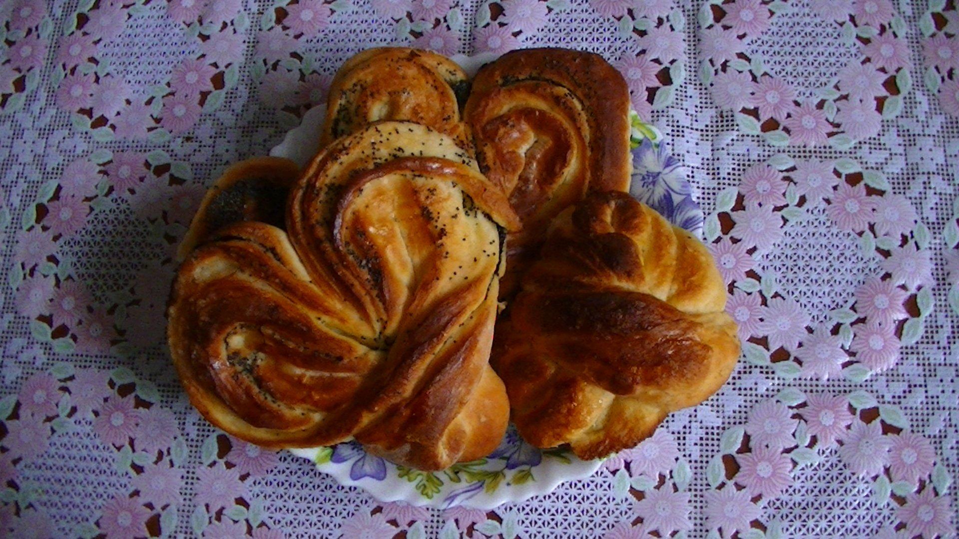Воздушные кружевные булочки пошаговый рецепт необычной формы