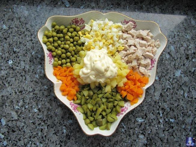состав рецептов салата оливье