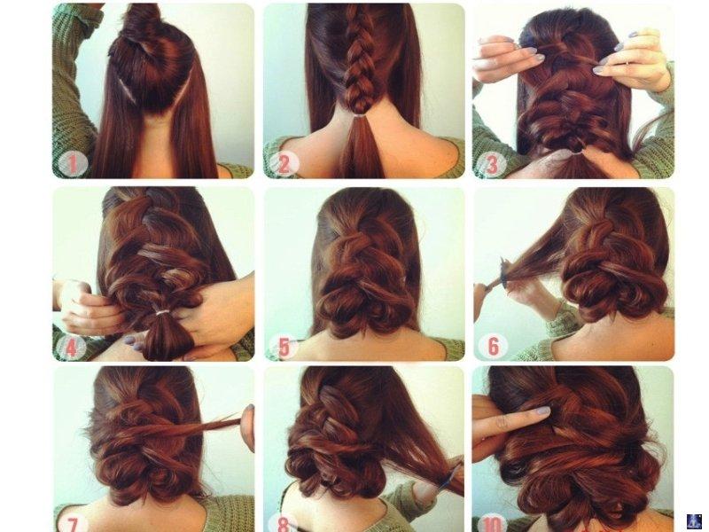 Красивые легкие и быстрые прически на длинные волосы видео - 339