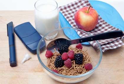 Эталонная диета (меню) для диабета 1го типа.